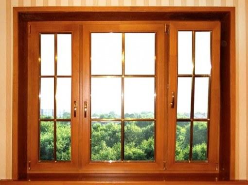 Деревянные окна очень красивы