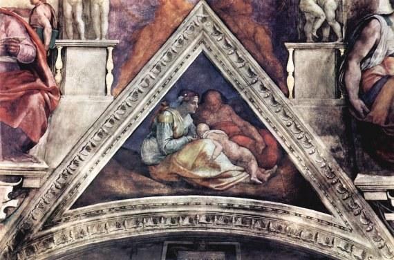 Фреска Микеланджело в Сикстинской капелле