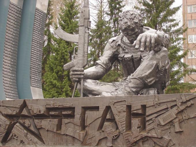 «Черный тюльпан» — памятник екатеринбуржцам, погибшим в Афгане и Чечне