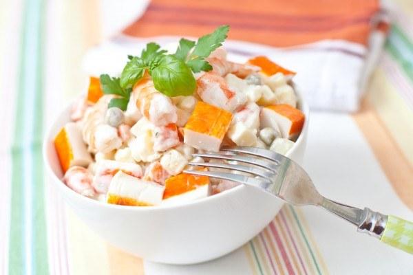 Рецепты салатов из крабовых палочек