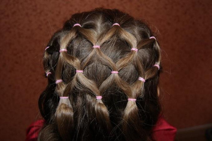 Сеточка из волос