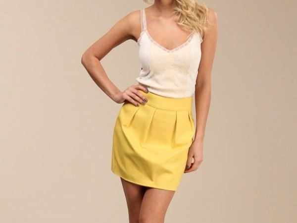 С чем носить юбку-тюльпан