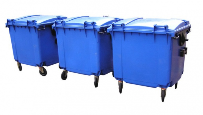 Containers for household waste are not designed for construction waste