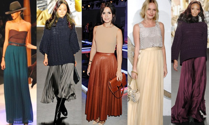 What to wear with long pleated skirt