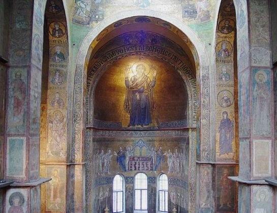 Образ Божьей матери в Софийском соборе