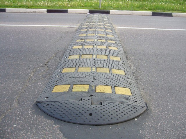"The ""bumps"" is used to ensure the safety of pedestrians"