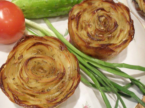 """Картофель """"Розочка"""" в духовке"""