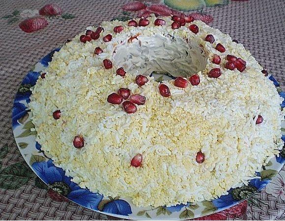 «Обручальное кольцо» салат