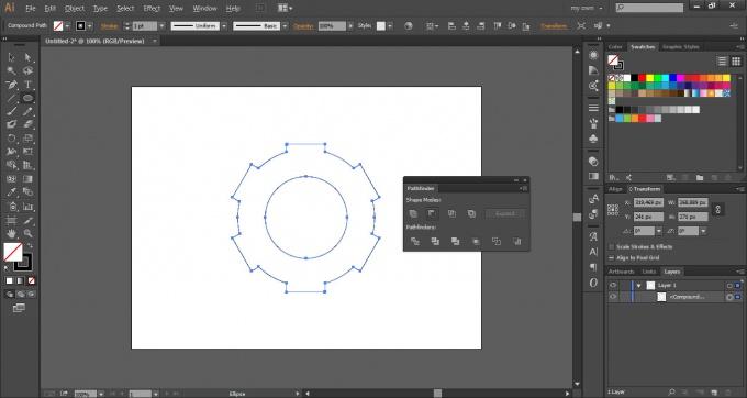 Как нарисовать шестеренку в Adobe Illustrator