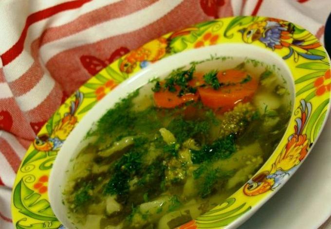 Весенний суп из брокколи