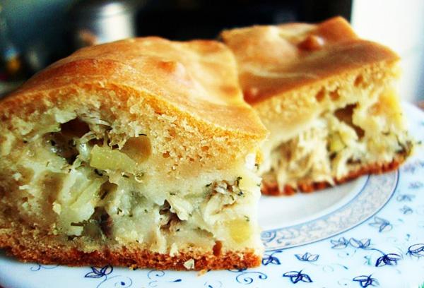 Как испечь заливной пирог с капустой?