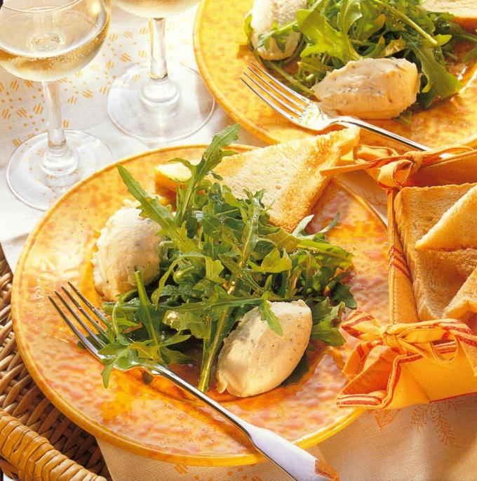 теплый салат с рукколой рецепт с фото