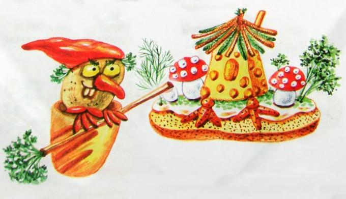 баба яга из картошины