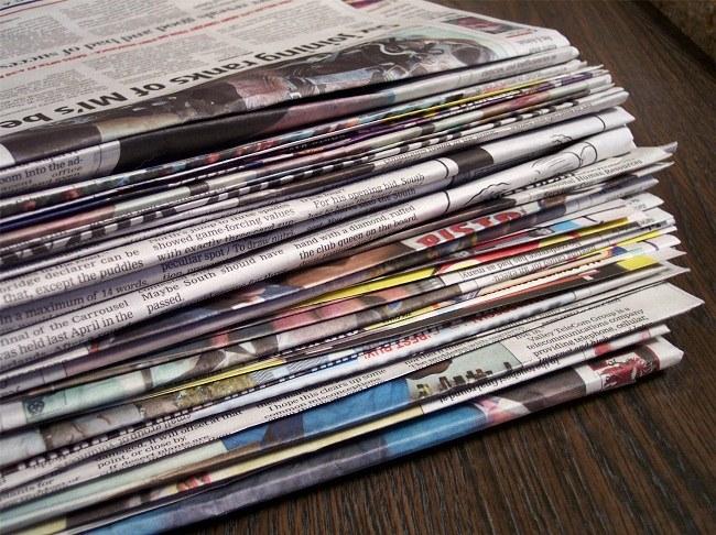 Пачка газет и журналов
