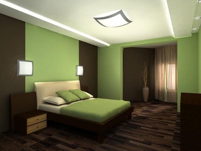 Классическая спальня в зеленых тонах