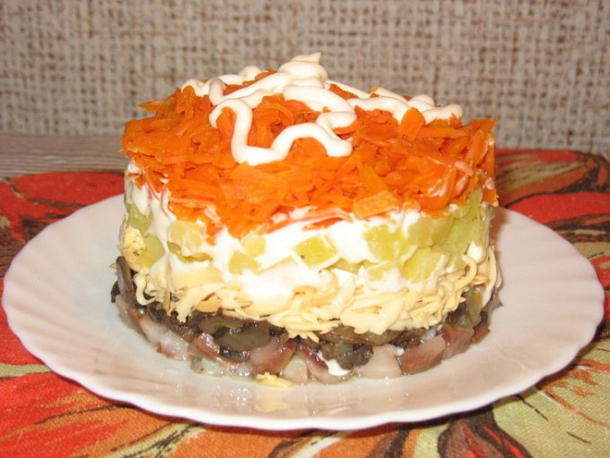 Салат под лисьей шубой - рецепт