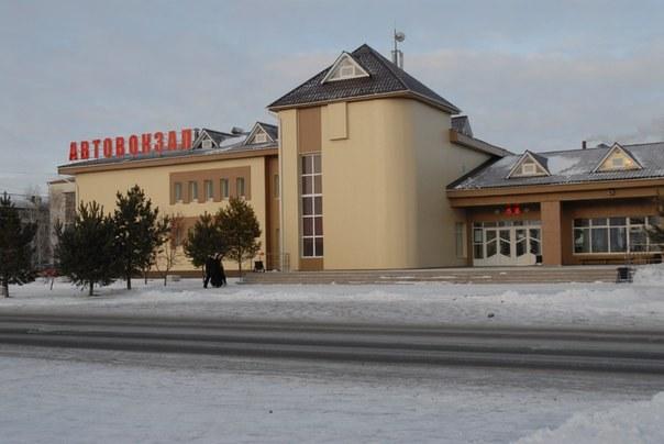 The bus station in Tyumen