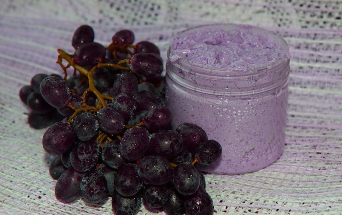Скраб из виноградных косточек своими руками