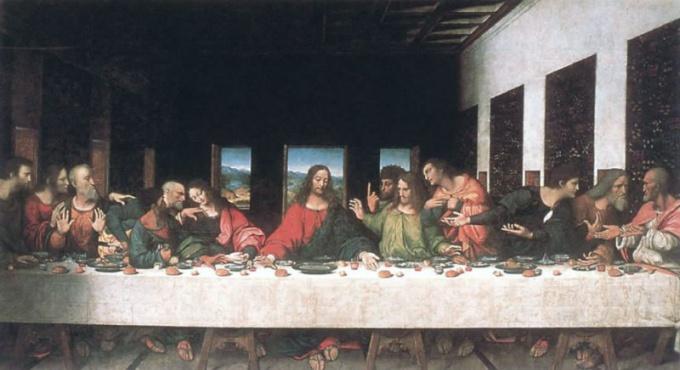 """Самая известная в мире фреска - """"Тайная вечеря"""" Леонардо да Винчи"""