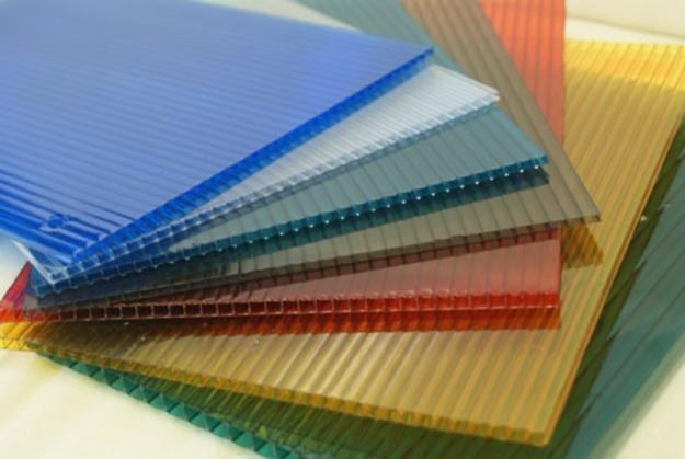 Polycarbonate with different color.