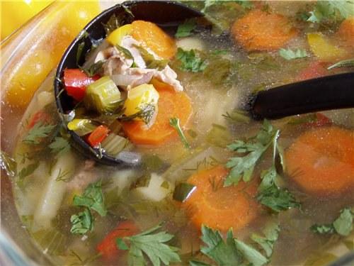Как сварить суп из куриных потрошков