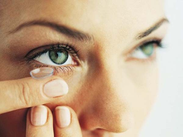 When wearing contact lenses dry eyes becomes more noticeable.