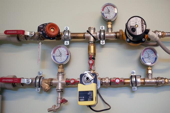Манометрический блок автономной системы отопления
