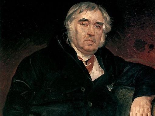 Портрет баснописца И.А.Крылова работы Карла Брюлова, 1839 г