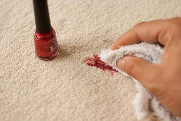 Как очистить ковер от лака для ногтей