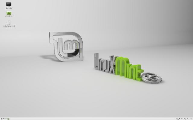 Рабочий стол Linux Mint 15
