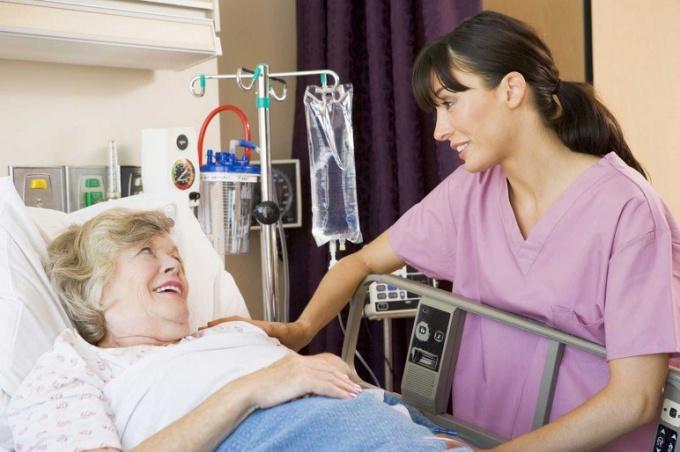 Медсестра за работой