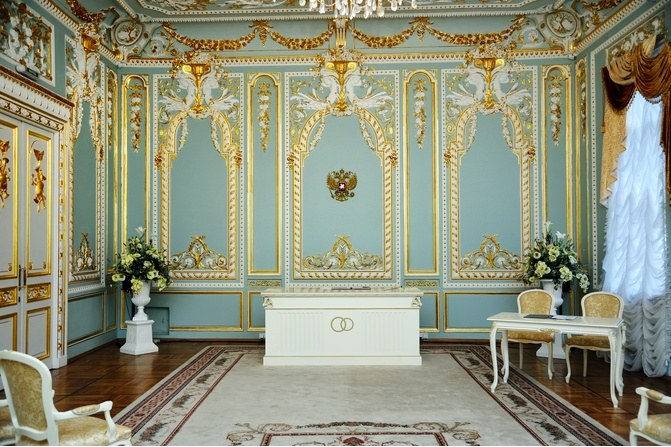 Зал во Дворце бракосочетания