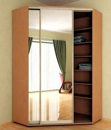 Угловой шкаф с откатными дверцами