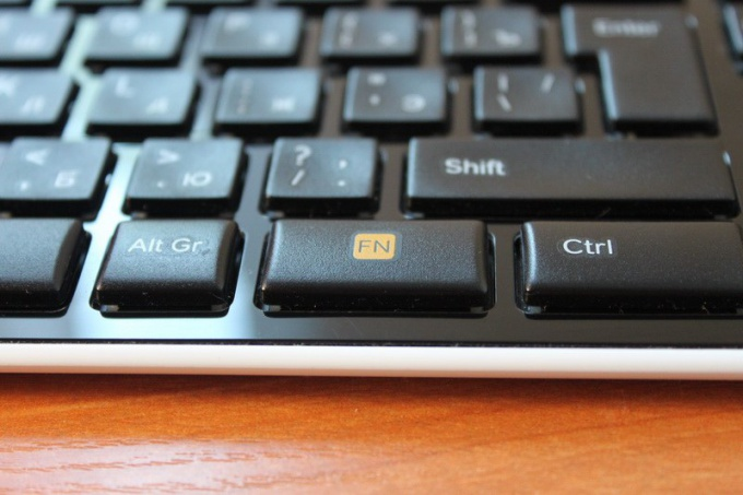 How to disable the Fn key on the netbook