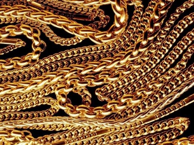 Золотые цепочки разного плетения и веса