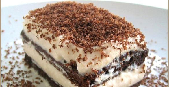 Как приготовить пирожное с ликером