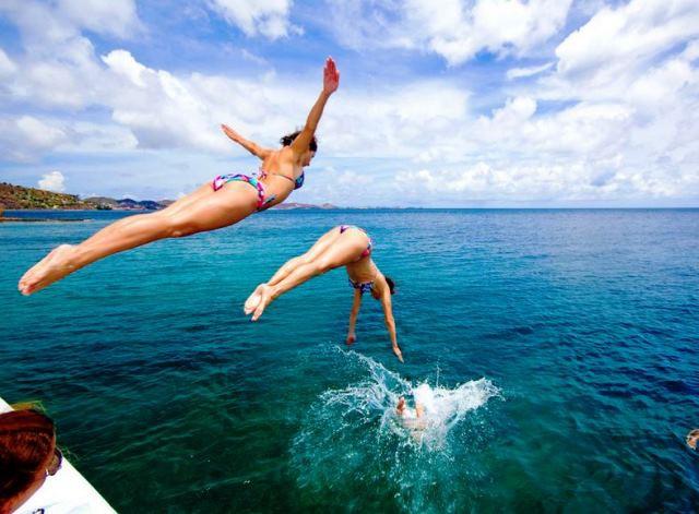 Как обучиться прыгать в воду