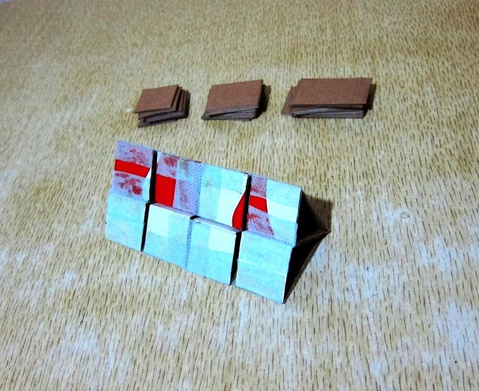 Цепочка из 8 треугольников