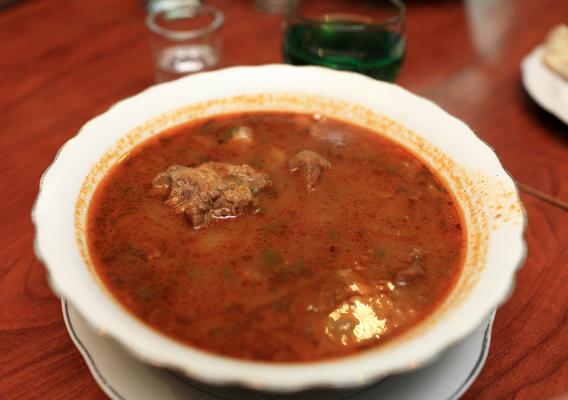 Суп харчо с черносливом