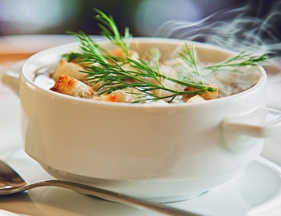 Крем-суп из шампиньонов с гренками
