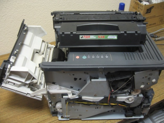Разборка лазерного принтера