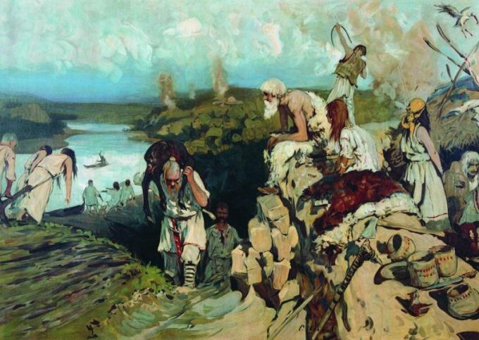На какие племена делились славяне?