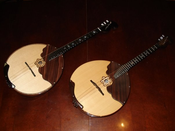 What musical instruments include the dombra