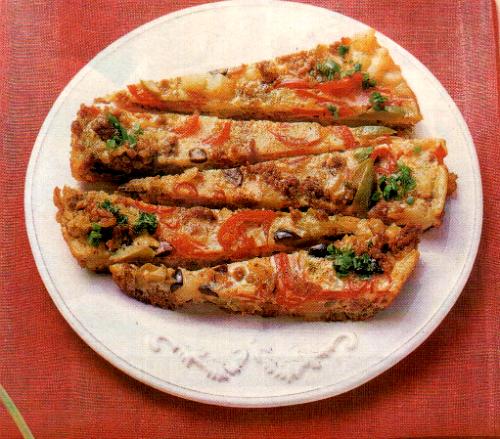 Итальянская запеканка с фаршем и овощами
