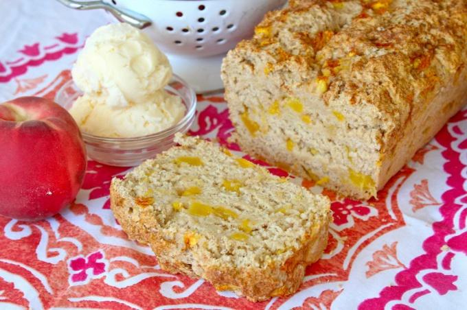 Как приготовить персиковый хлеб