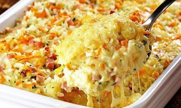 спагетти Рецепт запеканки из