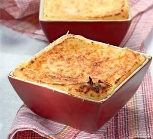 Суфле картофельное с грибами