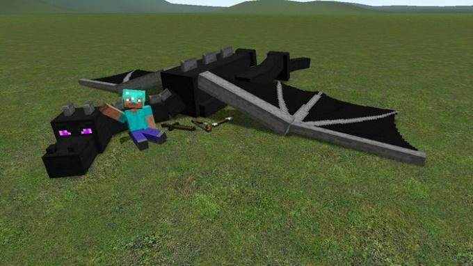 Где можно найти дракона в minecraft