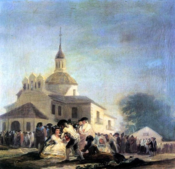 Церковь Сан-Исидро в изображении Франсиско Гойи