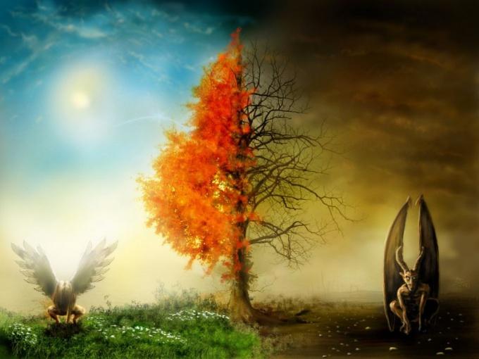 Аллегорическое представление добра и зла